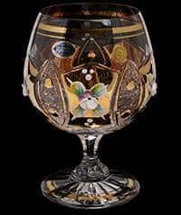 Набор бокалов для бренди 230 мл Хрусталь с золотом