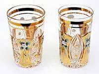 Хрусталь с золотом Набор стаканов для воды Jahami Bohemia 250 мл
