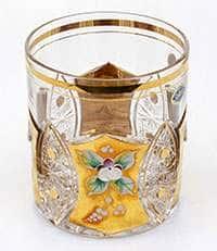 Набор стаканов для виски Хрусталь с золотом 330 мл Jahami