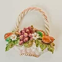 Корзина Цветы декоративная из керамики