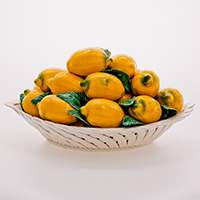 Блюдо декоративное круглое Лимон Lanzarin Ceramiche