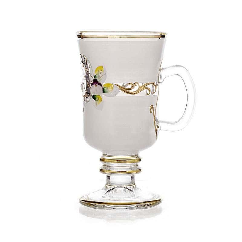 Лепка белая-белая Набор стаканов для чая Bohemia 6 шт.