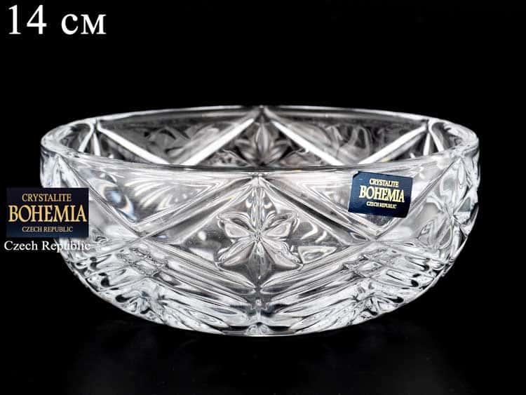 TAURUS Ваза для конфет Crystalite Bohemia 14 см