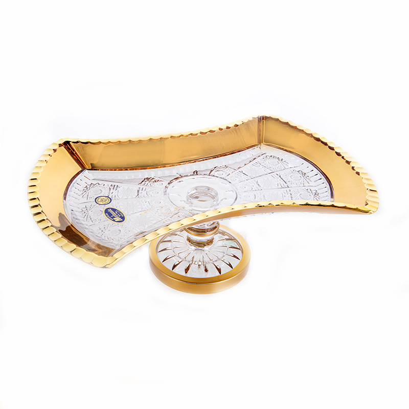 Снежинка с золотом 2 Рулетница на ножке Mclassic 27 см.