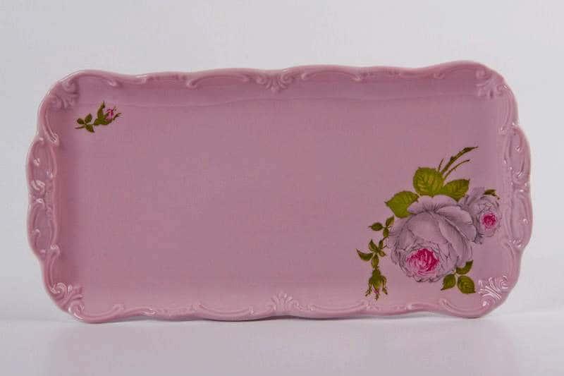 Алвин розовый Рулетница на ножке Weimar Porzellan 26 см