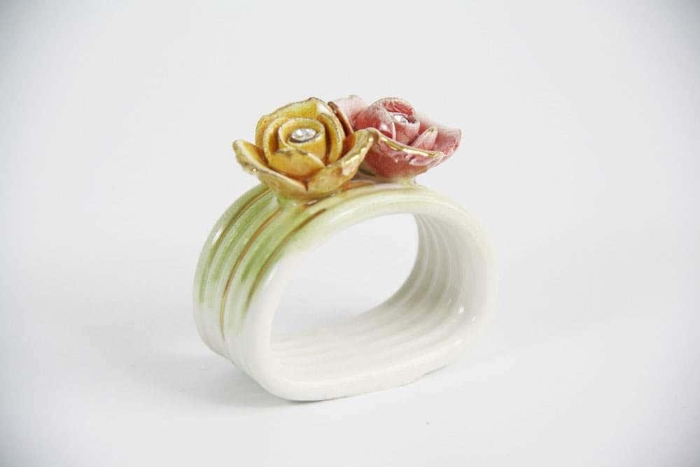 Кольцо для салфеток Цветы