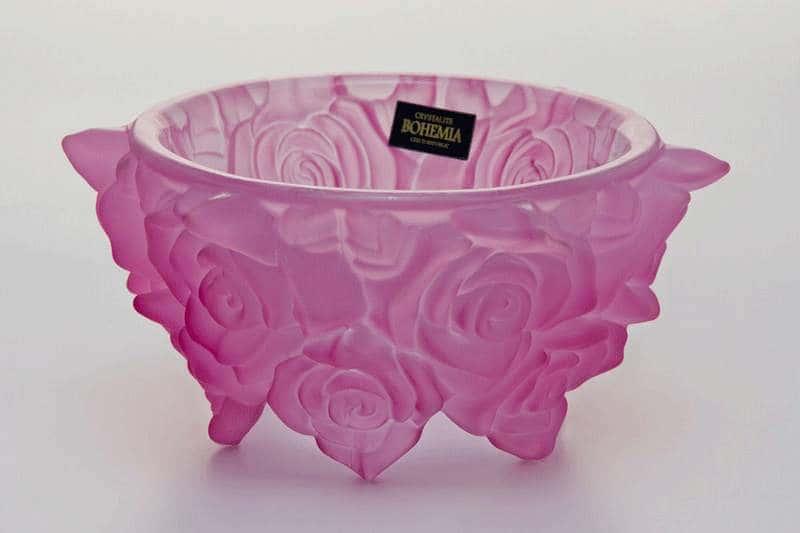 Ваза для конфет Фрост Розы розовые