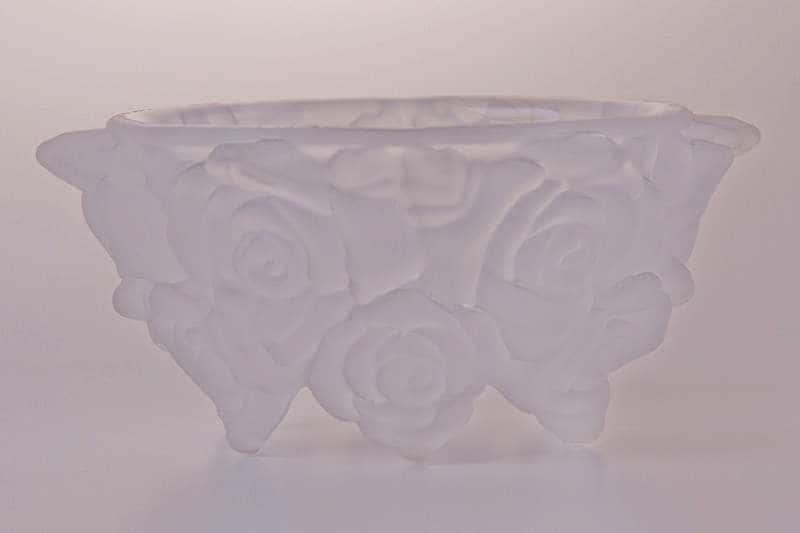 Ваза для конфет Фрост Розы прозрачные