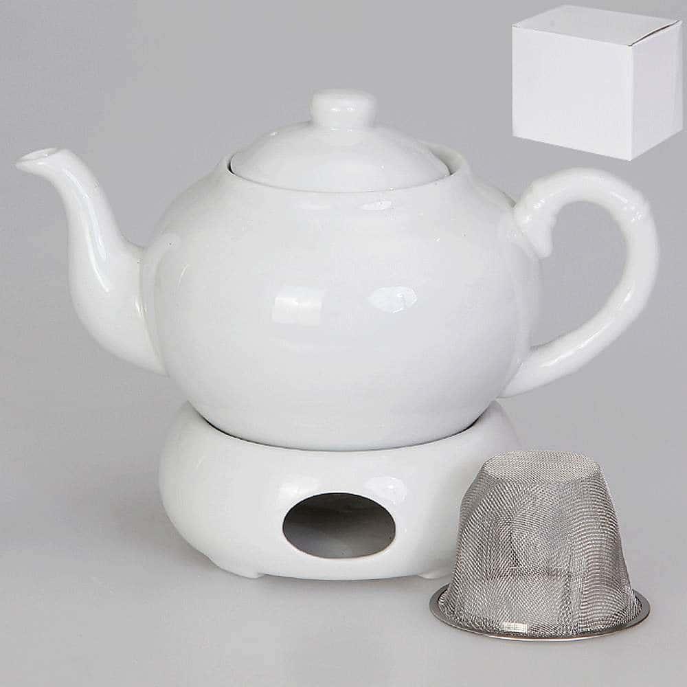 Чайник заварочный с подогревом с металлическим фильтром 1 л