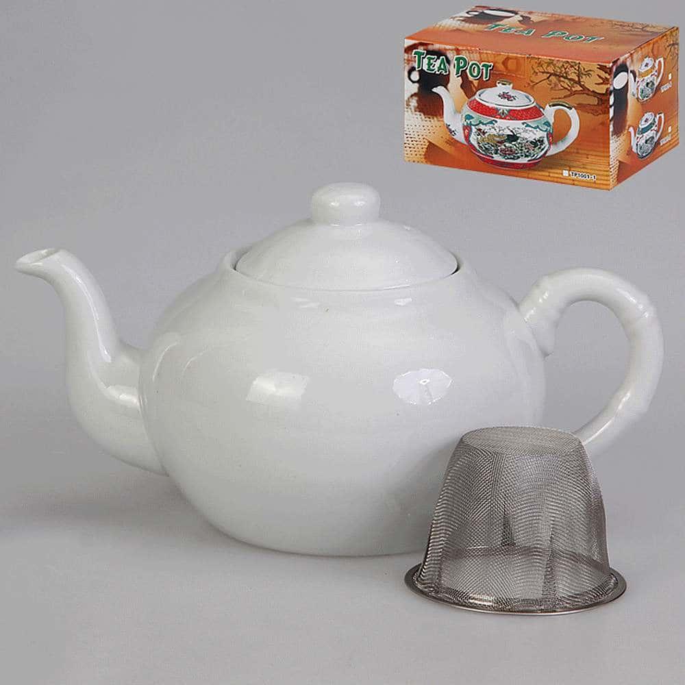 Чайник заварочный с металлическим фильтром 1 л