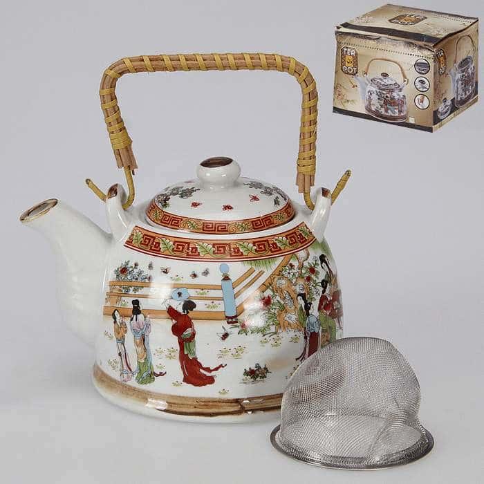 Чайник заварочный 6 видов с метал. ситом 800 мл