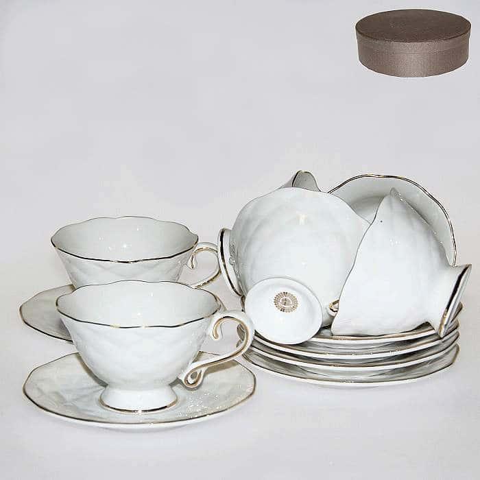 Кофейные чашки с блюдцами на 6 персон 90 мл