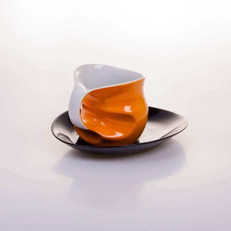 Набор для капучино оранж 230 мл 2 предмета Колани