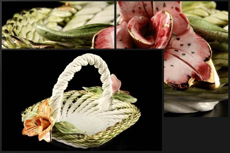 Корзина Цветы 14x12x11 см