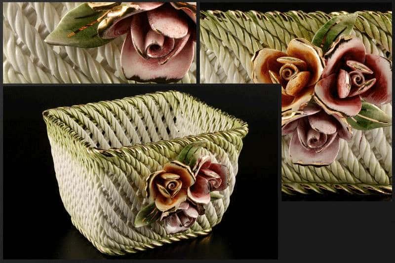 Корзина Цветы 15x14x10 см