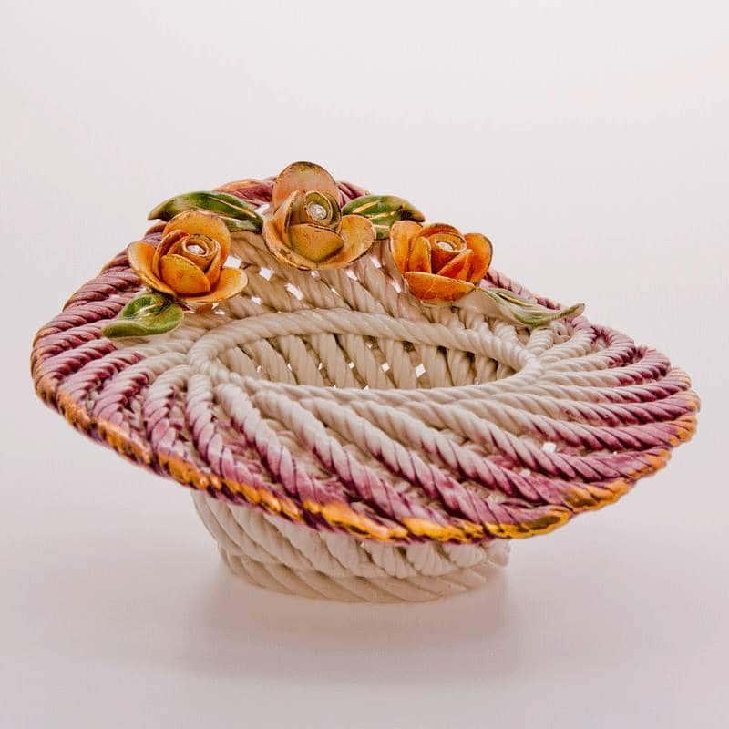 Корзина Цветы без ручек 19x19x10 см