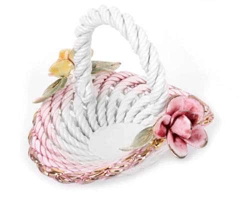Корзина Цветы овальная 14x14x11,5 см