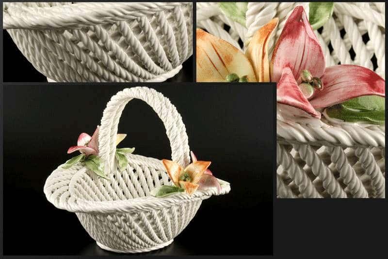 Корзина Цветы овальная 24x23x20 см