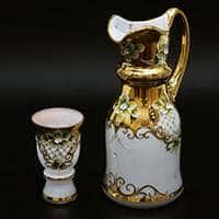 Королевский Лепка белая Набор для воды Cerna (кувшин и 6 бокалов)