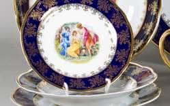 Набор тарелок 18предм. Мэри Энн Мадонна Кобальт