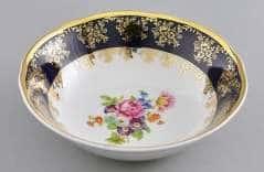Салатник круглый Мэри Энн Мелкие цветы Кобальт 16 см