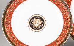 Блюдо мелкое круглое Сабина Версаче Красная лента 30см