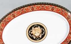 Блюдо овальное Сабина Версаче Красная  лента 35см