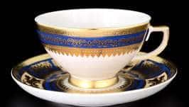 Diadem Blue Creme Gold Набор чайных пар FalkenPorzellan 250 мл (6 пар)