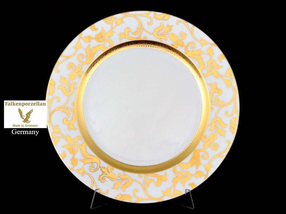 Блюдо круглое 32 см Tosca Black Gold FalkenPorzellan
