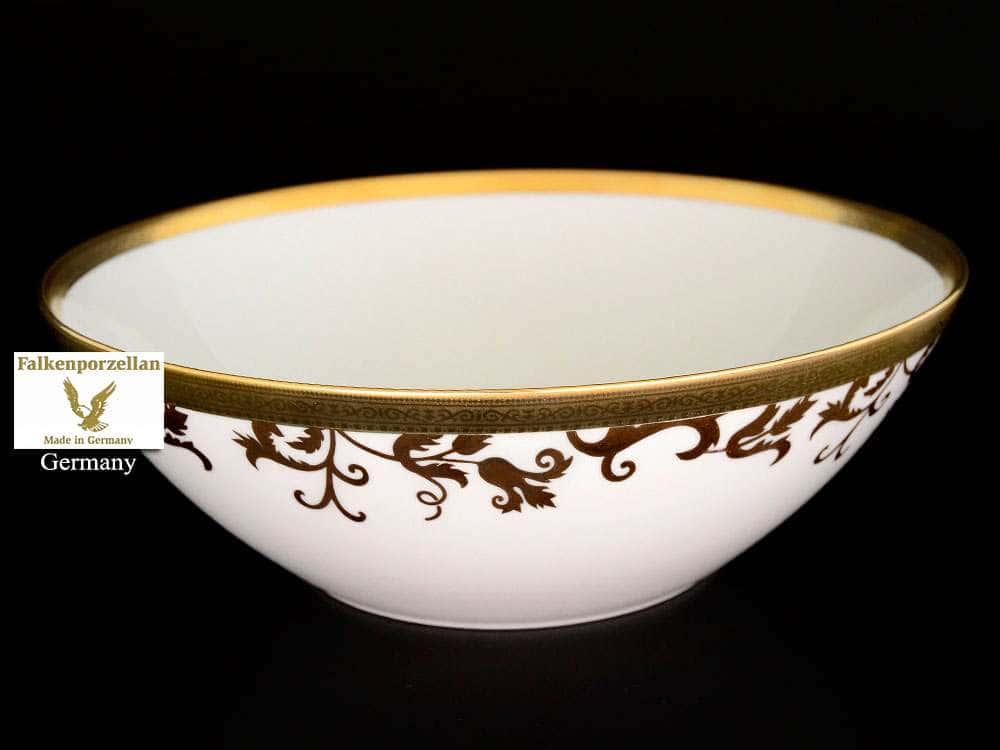 Tosca Black Gold Салатник FalkenPorzellan 25 см