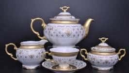Мария Луиза Лилия Белая Чайный сервиз Carlsbad на 6 персон 17 предметов