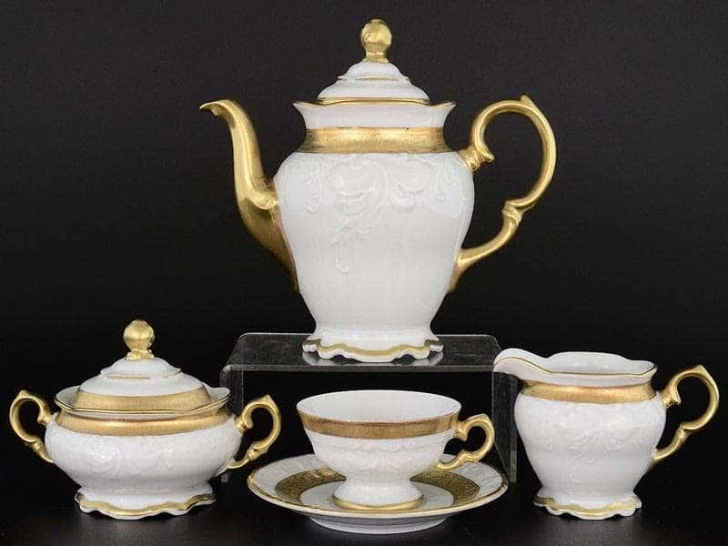Кофейный сервиз на 6 персон 17 предметов Мария Луиза Матовая полоса Carlsbad