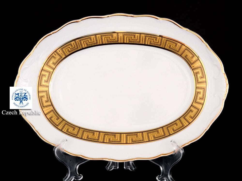 Блюдо овальное 32 см Магнолия Версаче MZ