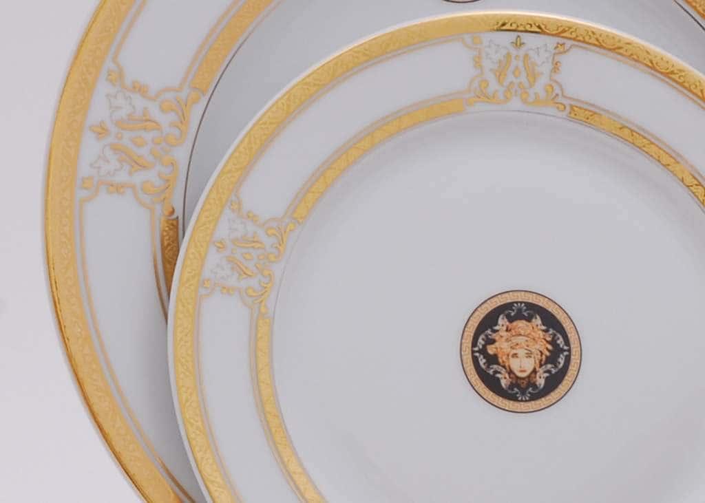 Набор тарелок десертных 6шт 19см Версаче Золотая лента