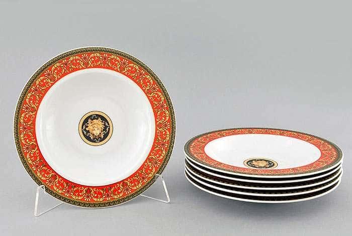 Набор тарелок десертных 6шт 19см Версаче Красная лента