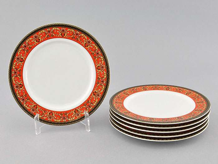 Набор тарелок десертных 6шт. 19см Сабина Красная лента