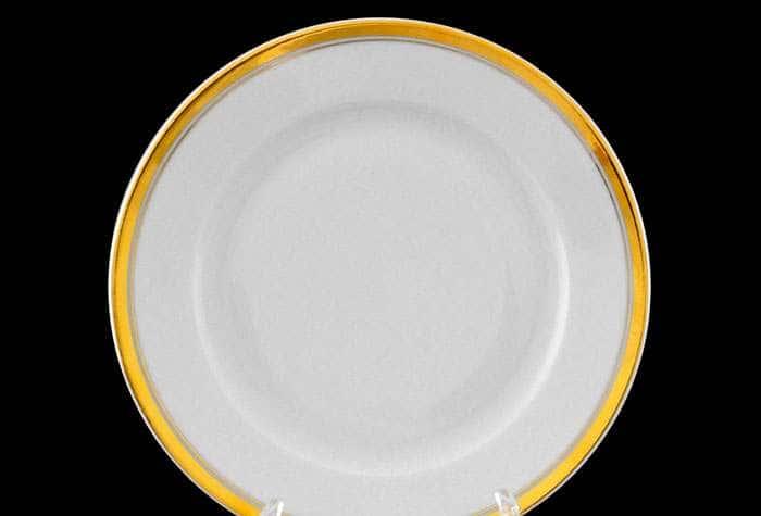 Набор тарелок десертных 19см Сабина отводка золото