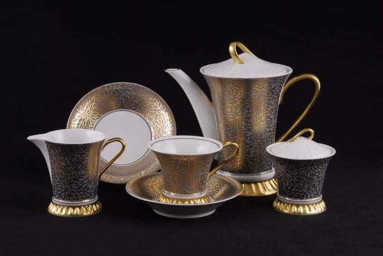 Сервиз чайный 15 предм Светлана  Золотые цветы