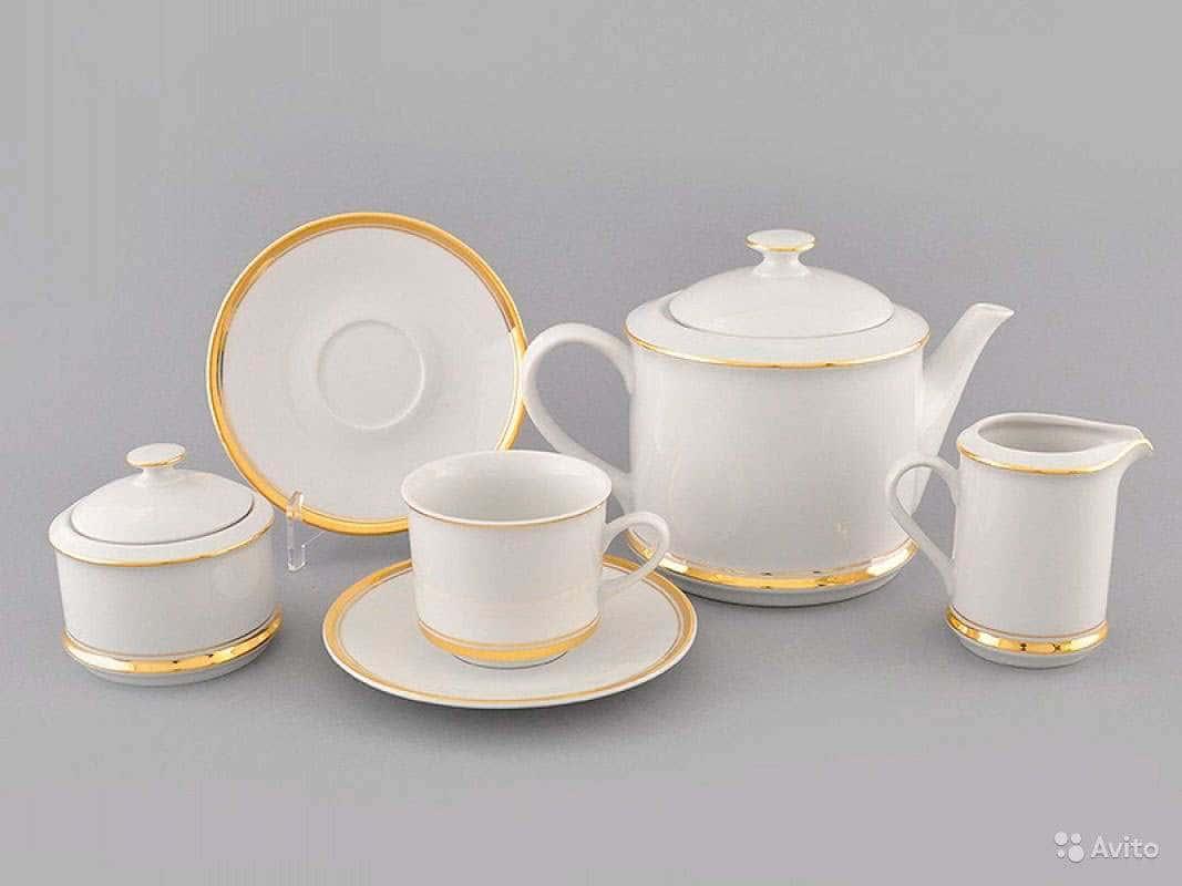 Сервиз чайный 15предм. Сабина Отводка золото