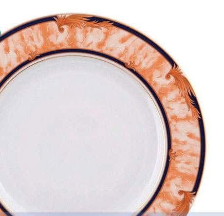 Блюдо круглое 30 см мелкое Сабина Мрамор Кобальт