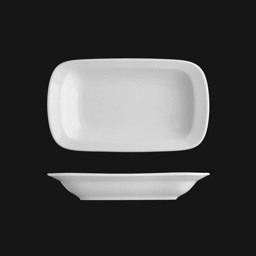 Эргономик, Блюдо прямоугольное, Леандер,  24см из фарфора