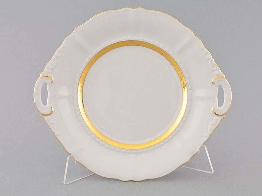 Тарелка для торта 27 см Соната Золотая лента