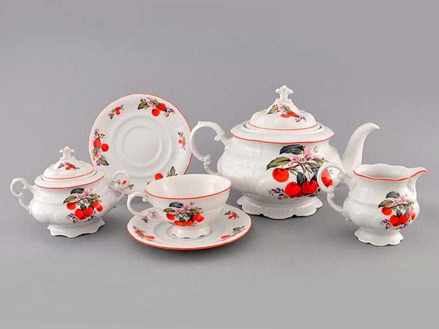 Чайный сервиз 6 персон 15 предметов Соната Вишни