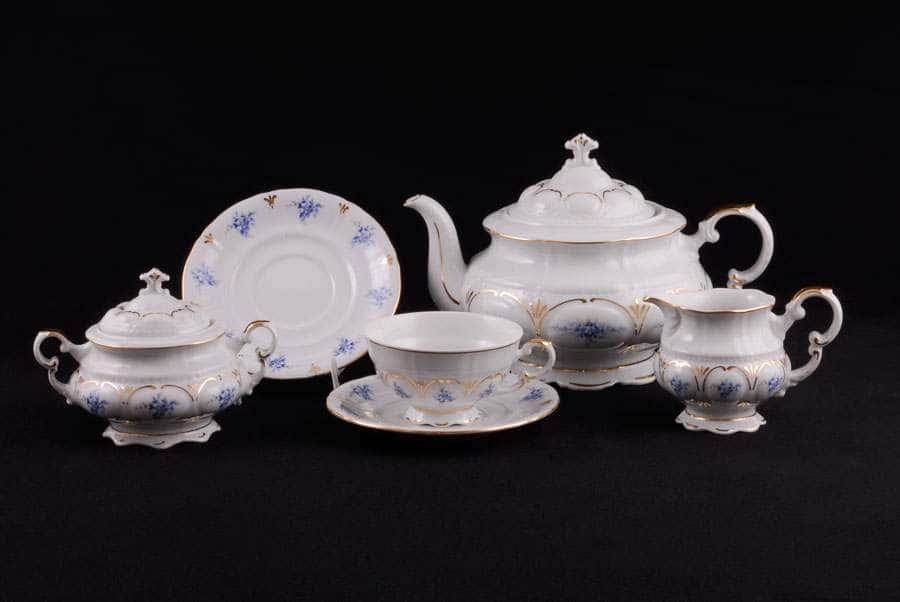 Чайный сервиз 6 персон 15 предметов Соната Голубые цветы