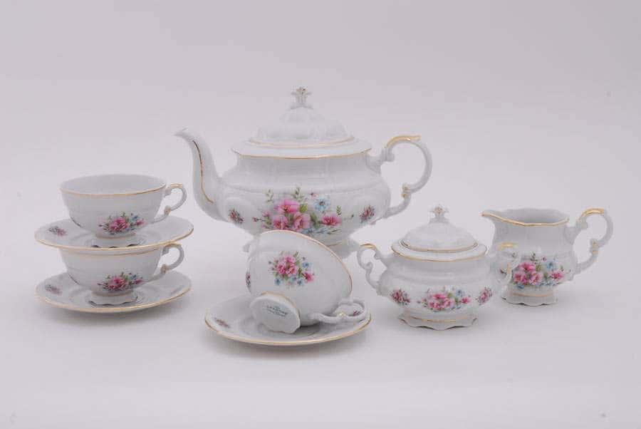 Чайный сервиз 6 персон 15 предметов Соната Розовые цветы 05719