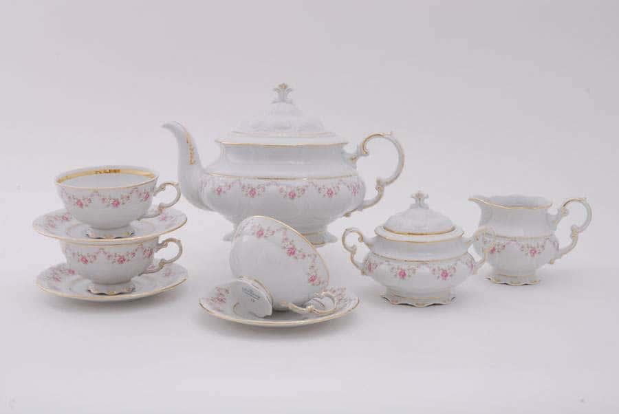 Чайный сервиз 6 персон 15 предметов Соната Мелкие цветы 33395