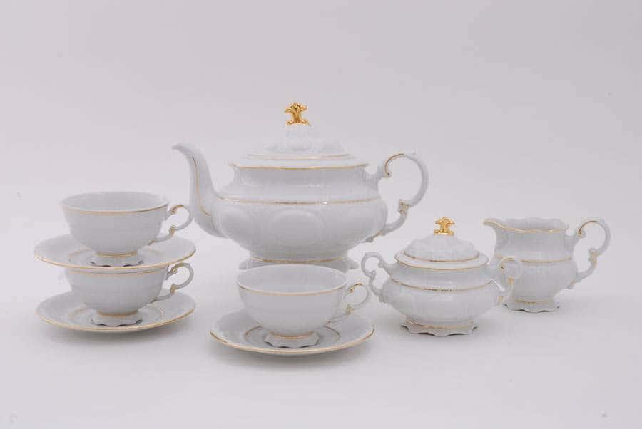 Чайный сервиз 6 персон 15 предметов Соната Отводка золото