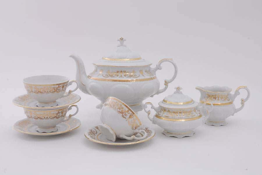 Чайный сервиз 6 персон 15 предметов Соната Золотой орнамент