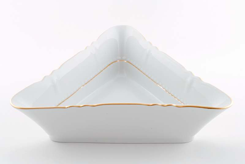 Салатник треугольный 17см Соната Отводка золото
