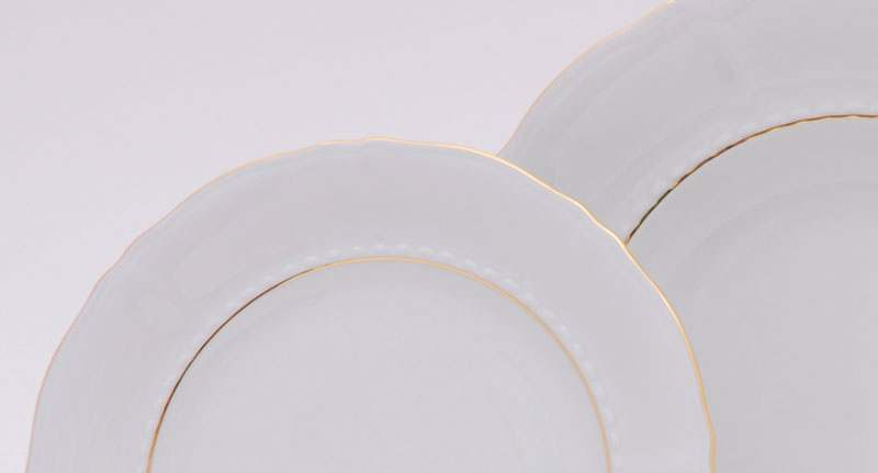 Набор тарелок десертных  6шт. 17см Соната Отводка золото
